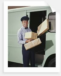 Delivery Truck Driver Holding Packages Posters Prints By Corbis