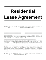 Standard Lease Agreements Mesmerizing Free Printable Lease Template Samples Rental Agreement Forms Sample