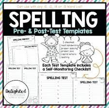 Spelling Test Template Stunning Freebie Spring Spelling Test Templates Template 48 Words