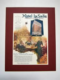 1923 Hotel LaSalle Chicago Vintage Advertisement Matted 11x14 Bedroom Wall  Art Living Room Decor Apartment Decor Original Magazine Print Ad By  RelicEclectic ...