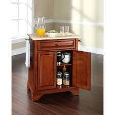 Crosley Furniture Kitchen Cart Crosley Furniture Newport Natural Wood Top Portable Kitchen Island