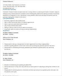 Medical Assistant Resume Sample 8 Examples In Word Pdf