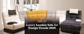 luxury leather sofa set furniture