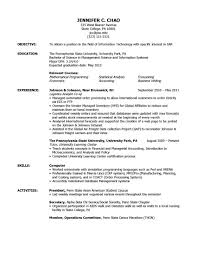 Study Abroad Objective Job Search Job Search Etiquette Weekly Brilliant  Ideas Of Study Abroad Resume Sample