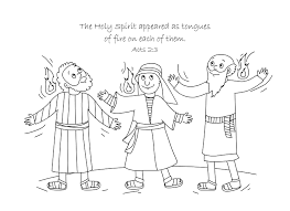 Small Picture Free Bible Coloring Page Holy Spirit Comes