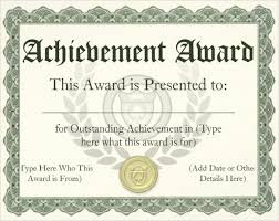 Achievement Awards Certificates Templates 30 Award Certificate Template Free Tate Publishing News