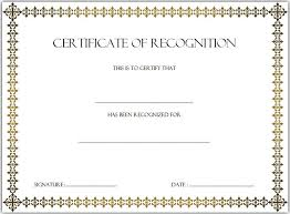 Certificate Of Recognition Template Word Free 6