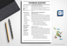 Modern Resume Template Hannah Hughes Bestresumes