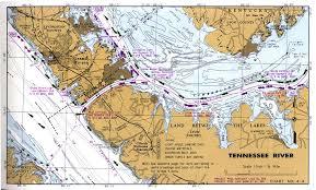 Tennessee River Navigation Charts Of Kentucky Lake Lake