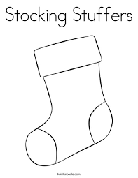 Small Picture Stocking Stuffers Coloring Page Twisty Noodle