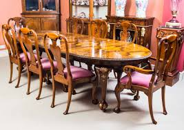 Antique Queen Anne Style Dining Table 8 Chairs C 1920 Ref No