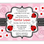 Ladybug Baby Shower Invitations Any Color Scheme  Download JPG Free Printable Ladybug Baby Shower Invitations