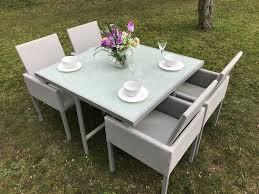 dining set sale. oakita elle 4 cube aluminium garden dining set sale e