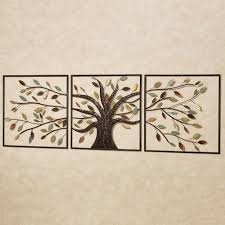 ever changing brown tree metal wall art set regarding newest rectangular wall accents gallery 10