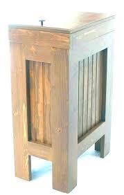 wood trash bin for kitchen wooden bins rustic can garbage diy