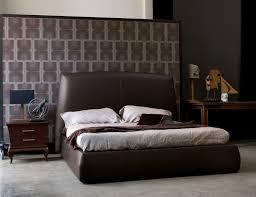 Modern Italian Bedroom Furniture Italain Leather Modern Platform Bed Los Angeles California Bhposh