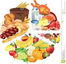 Food Pie Chart Illustration Stock Illustration