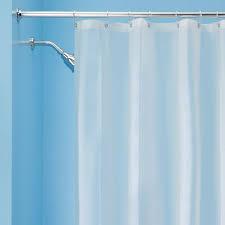 White EVA Shower Curtain Liner ...