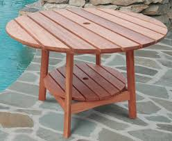 outdoor eucalyptus wood round dining table traditional outdoor for Wood  Patio Table Wood Patio Table