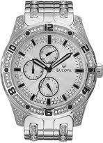 mens crystal watches shopstyle bulova mens crystal accent watch 96c106