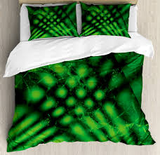 image is loading lime green duvet cover set with pillow shams