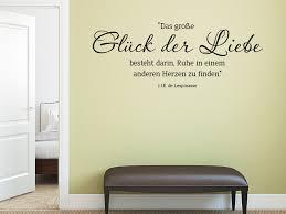 Wandtattoo Das Große Glück Der Liebe Zitat Wandtattoode