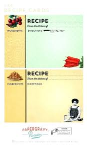 Index Card Recipe Template Recipe Index Card Template Allthingsproperty Info