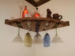 brown wooden wall mount corner target wine rack for kitchen furniture idea