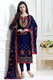 <b>Embroidered Chiffon</b> Unstitched Product Code FC-<b>new</b> blue ...