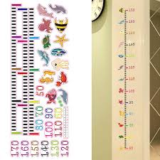 Height Growth Chart Us 2 17 50 Off Height Measurement Decals Stickers Waterproof Cartoon Removable Children Kids Height Growth Chart For Home Office School Bedroom In