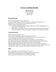 soccer soccer player resume sample - Sample Coaching Resume
