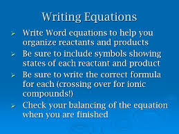 4 writing equations write word