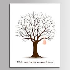 Fingerprint Tree Posters  ZazzleFingerprint Baby Shower Tree