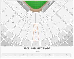 Target Field Suite Seating Chart Minnesota Twins Target Field Seating Chart Interactive Map