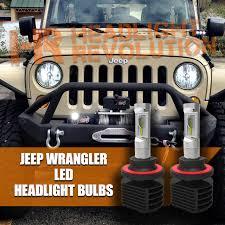 Jeep Tj Fog Light Bulb Replacement 2007 2017 Jeep Wrangler Jk Led H13 Headlight Bulb Upgrade Gtr Lighting Bulbs