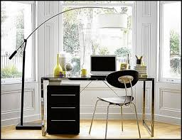 home office lamps. Home Office With Mirrored Desk And Floor Lamp Lamps D