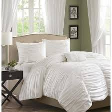 bedding comforter sets helena scalloped white ruched sky iris 12