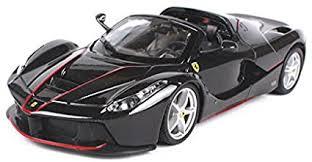Beautifully accented with carbon fiber trim and the factory two tone roof. Amazon Com Ferrari Laferrari F70 Aperta Black 1 24 Diecast Model Car By Bburago 26022 Toys Games