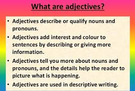 Adjectives For Recommendation Letter What Are Adjectives English Grammar A To Z