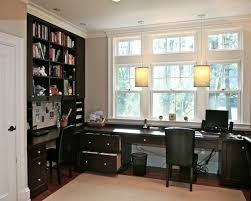 Image American Style Beautiful Home Office Design For Two People With Double Desk Beautiful Classic Home Office Design Decor Interior Design Interior Design Beautiful Classic Home Office Design With Lovely