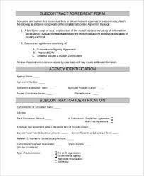 Subcontractor Agreement Format Sample Subcontractor Agreement Forms 8 Free Documents In Word Pdf