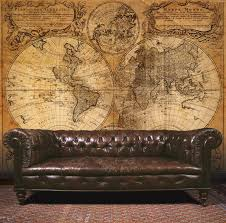 Essener Mural Wallpaper G45253 Steampunk Map Room Wall Panel Photo Fleece  in Home, Furniture &