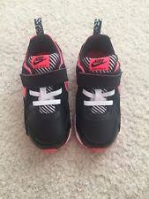 nike 8c. new nike air max trax toddler tdv kids shoes 644474-003 black sz 8c strap nike 8c