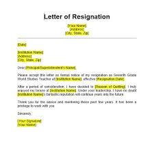 Resignation Letter Samples With Reason 5 Teacher Resignation Letter Sample Format Templates 2020