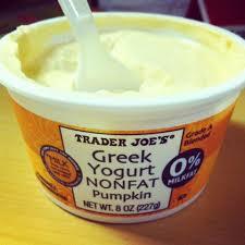 trader joe s non fat pumpkin greek yogurt