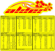 Agent 18 Wetsuit Size Chart Wetsuit Size Charts For All Known Brands 360guide