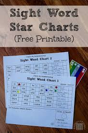 Sight Word Star Charts Researchparent Com