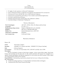 Sample Dot Net Resume For Experienced Best Of Experience R Resume Experience Examples On Example Of A Resume
