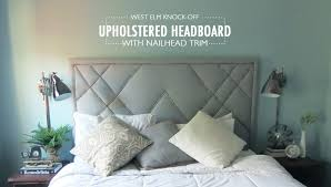 diy furniture west elm knock.  Furniture How To Build A West Elm Knockoff Upholstered Headboard With Decorative  Nailhead Trim In Diy Furniture Knock