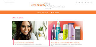 like regular content marketing efforts ulta uses their magazine to draw people in via search engines and to paint themselves as a knowledgeable